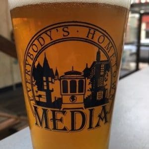 Media Pint Glass